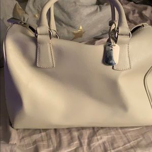 Furla cream bucket bag